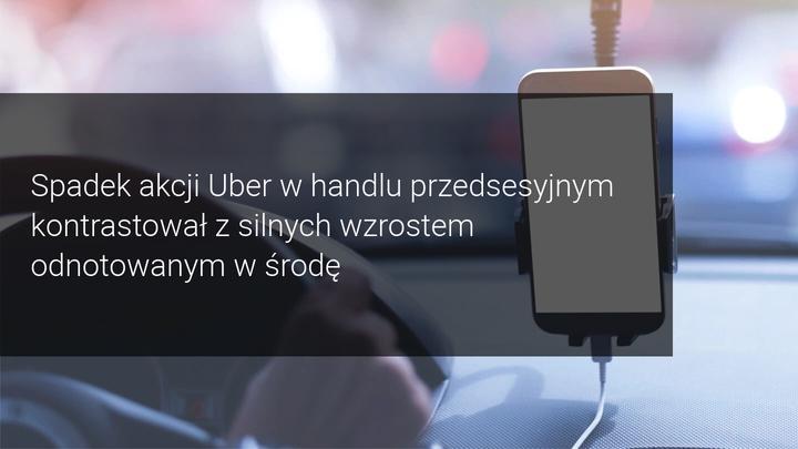 spadek akcji uber