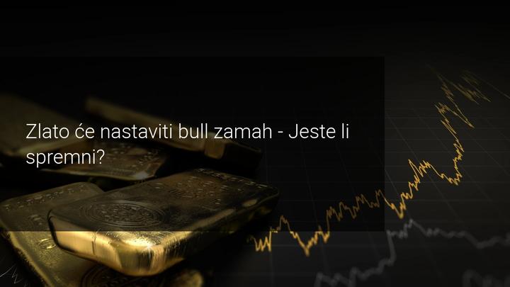 zlato nastavlja bull zamah